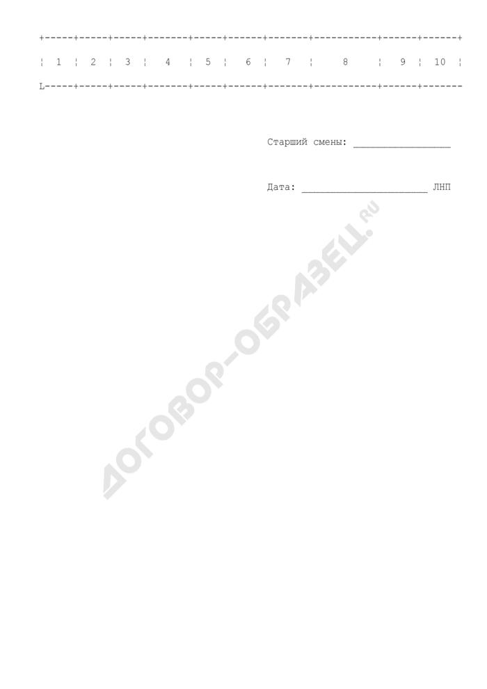 Журнал регистрации сообщений о прибытии товаров на таможенную территорию Российской Федерации. Страница 2