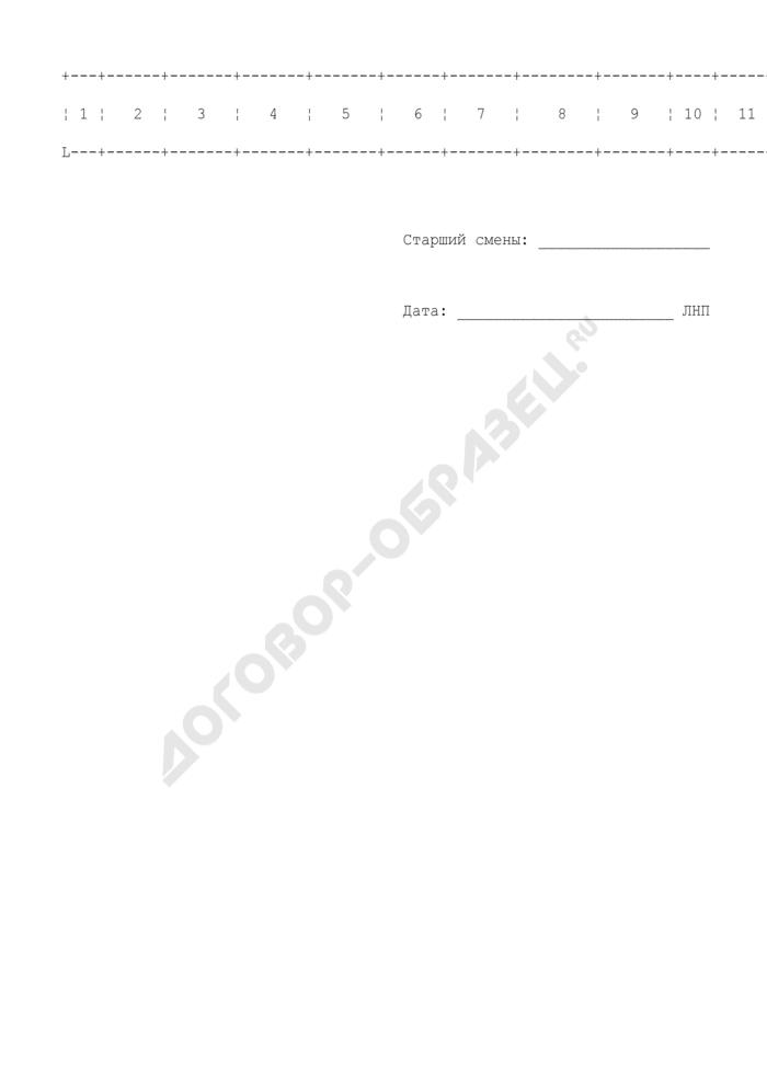 Журнал регистрации документов отчета. Страница 2