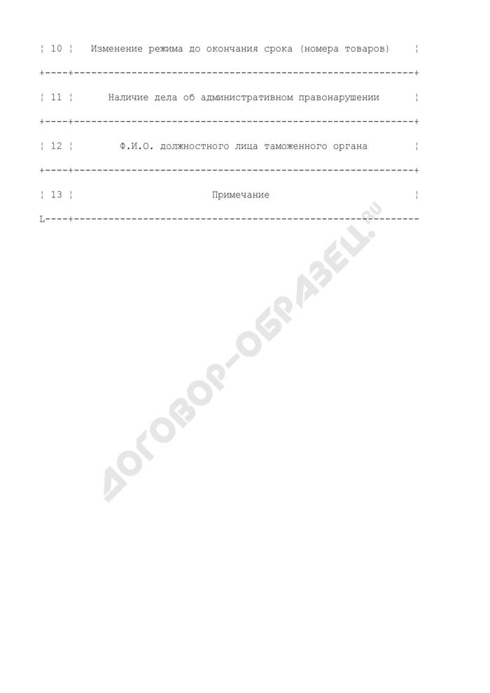 Журнал регистрации временного ввоза по карнетам АТА. Страница 2