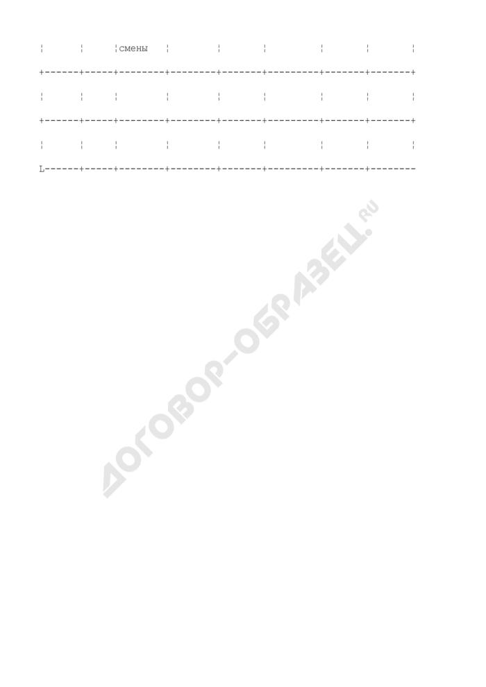 Журнал результатов работы смен наполнительного и сливного отделений. Форма N 50-Э. Страница 2