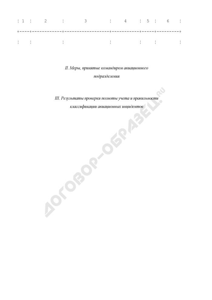 Журнал учета авиационных инцидентов, нарушений и ошибочных действий летного состава (экипажей). Страница 2
