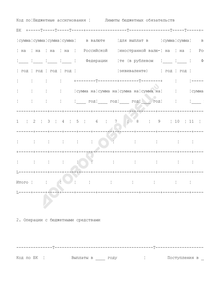Акт приемки-передачи показателей лицевого счета иного получателя бюджетных средств (для отражения операций). Страница 3