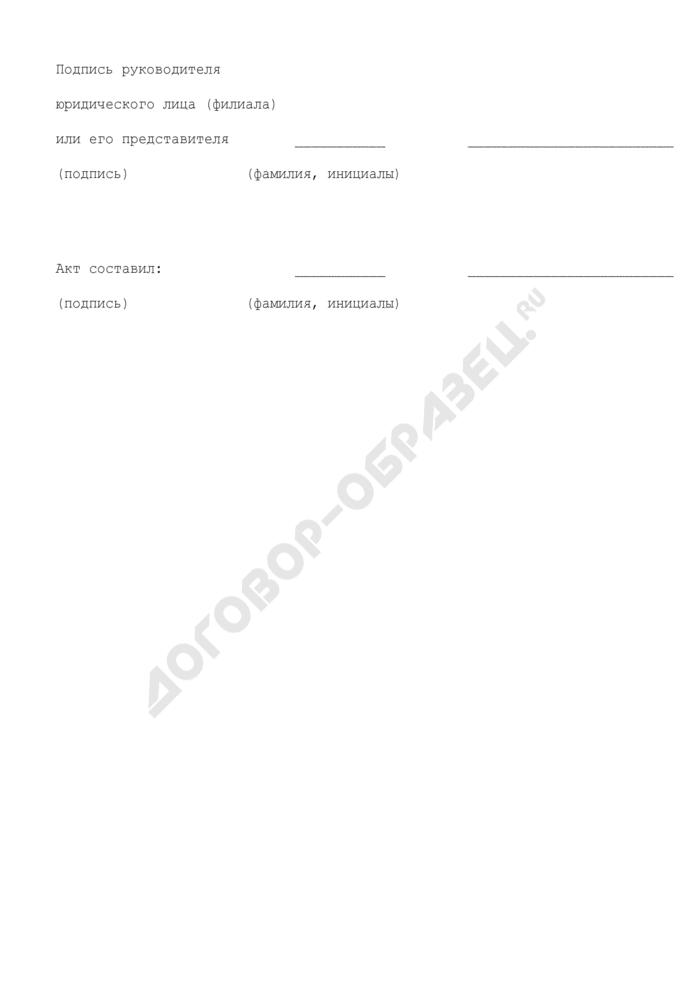 Акт о результатах обследования объектов и помещений, где осуществляется деятельность, связанная с оборотом наркотических средств и психотропных веществ (образец). Страница 3