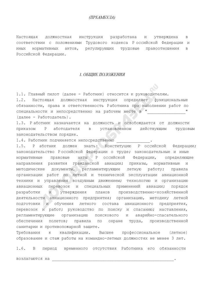Должностная инструкция главного пилота. Страница 2