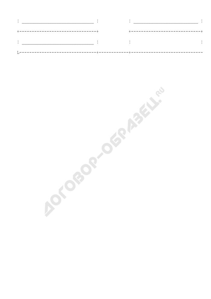 Служебная карточка на сотрудника уголовно-исполнительной системы. Форма N 2. Страница 2