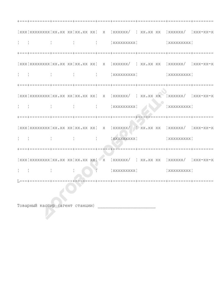 Книга регистрации приказов об увеличении платы за пользование вагонами и контейнерами и хранение на местах общего пользования. Форма N ГУ-5 ВЦ. Страница 2