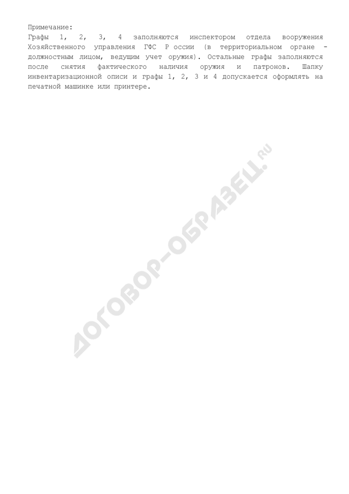 Инвентаризационная опись оружия и патронов. Страница 3