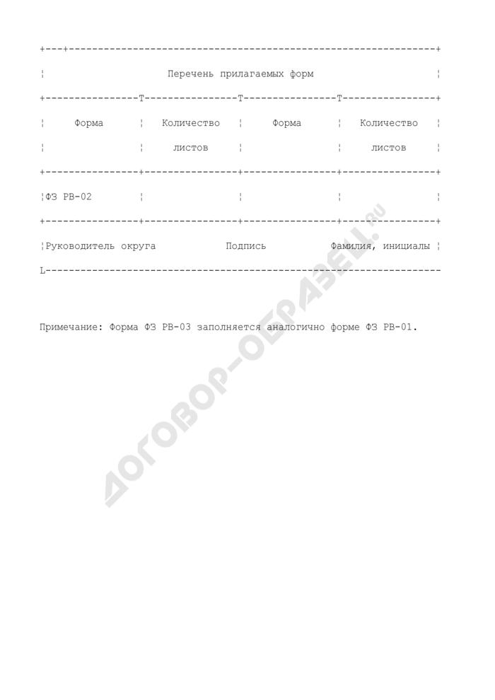 Форма квартального отчета о надзоре за физической защитой радиационных источников, радиоактивных веществ и пунктов хранения на ядерно опасных объектах. Форма N ФЗ РВ-03. Страница 3
