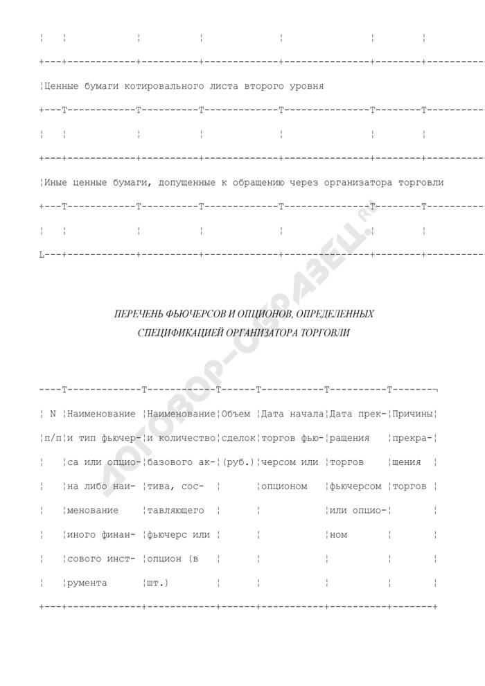 Ежемесячный отчет организатора торговли на рынке ценных бумаг. Форма N 3100 (отчетность профессиональных участников рынка ценных бумаг). Страница 3