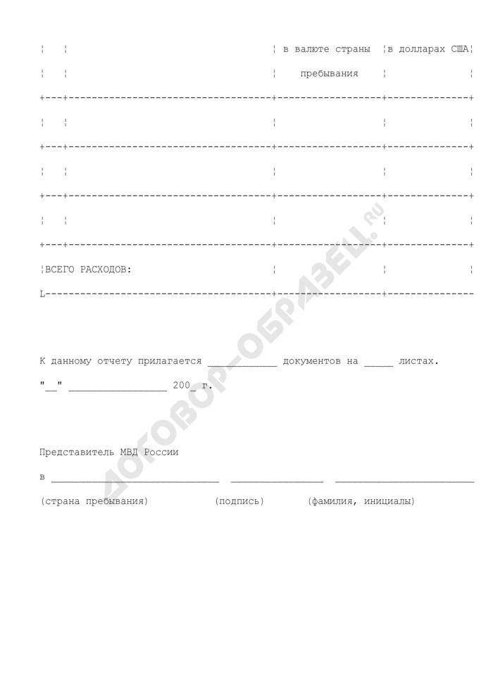 Отчет о представительских расходах сотрудника МВД России. Страница 2