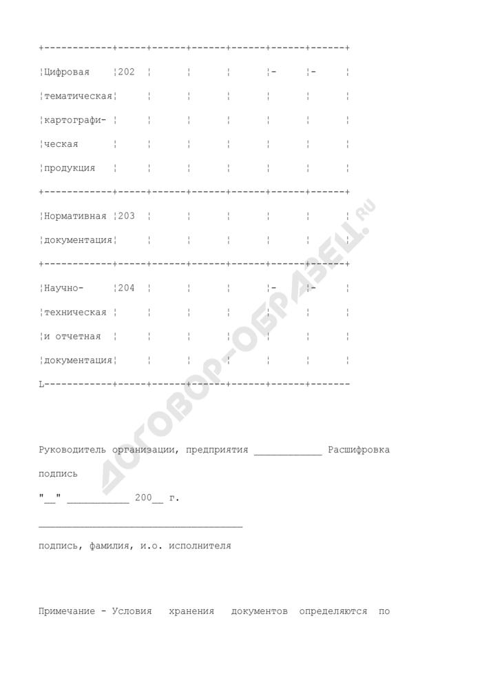 Паспорт организации, хранящей документы фонда цифровой картографической продукции. Страница 3