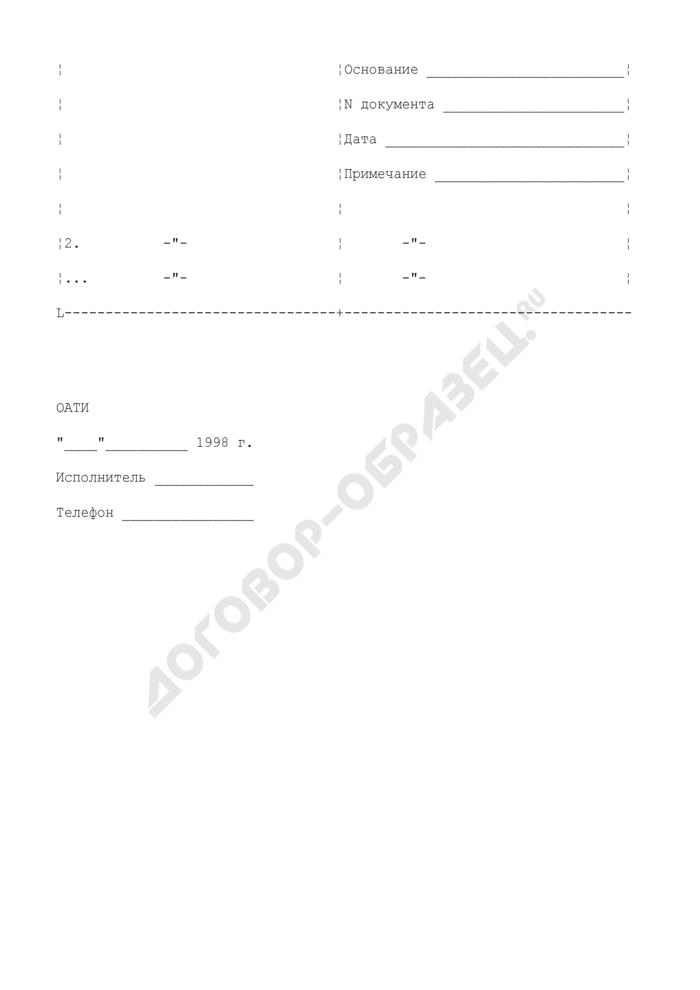 Перечень организаций, по которым направлены представления о лишении или приостановлении действия лицензий. Форма N О4. Страница 2