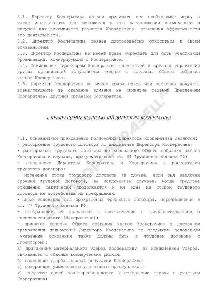 Положение о директоре кредитного потребительского кооператива граждан. Страница 3