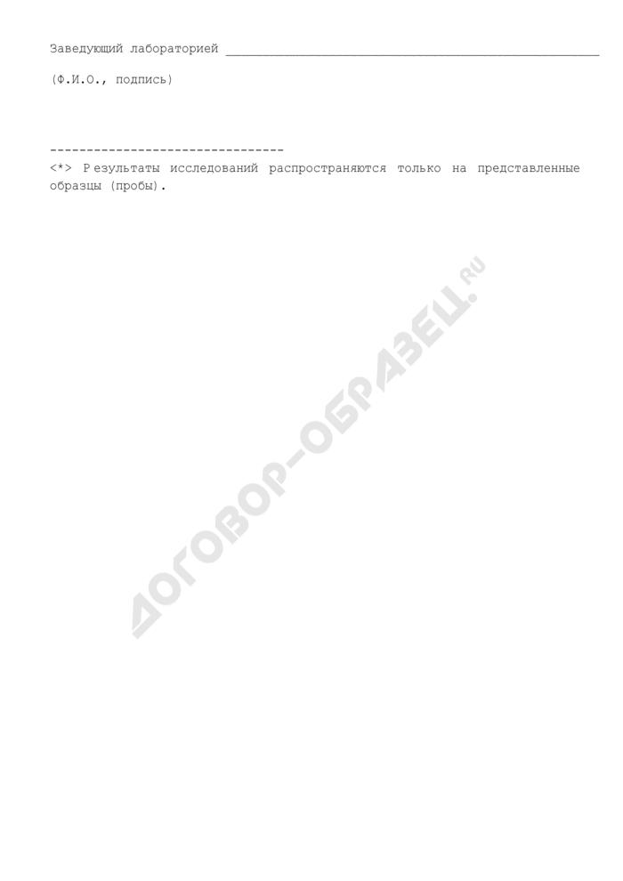 Протокол исследования образцов объектов окружающей среды. Страница 3