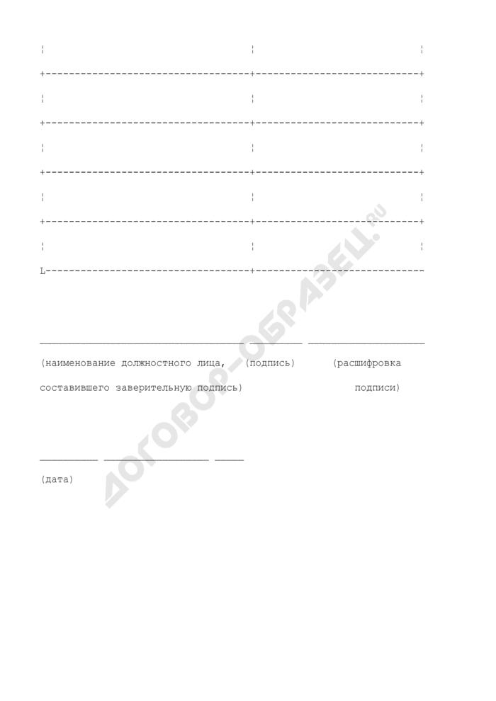 Лист-заверитель дела постоянного и долговременного хранения и дела по личному составу в арбитражных судах Российской Федерации (первой, апелляционной и кассационной инстанциях). Страница 2