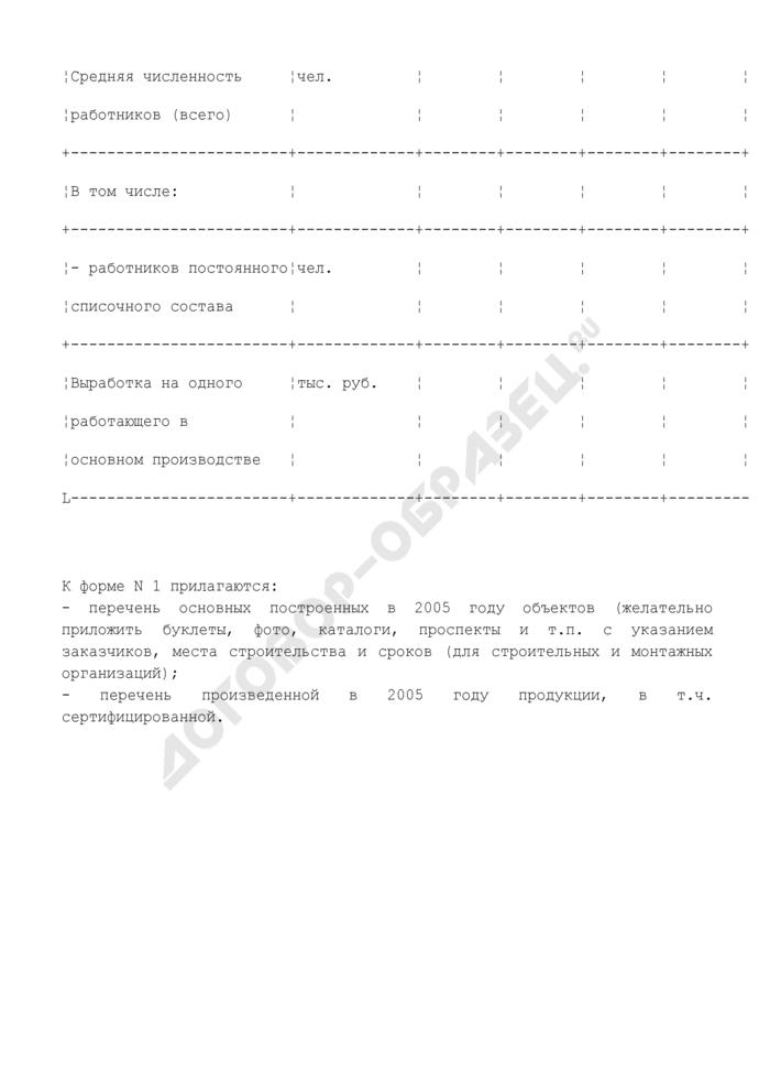 Выполнение производственной программы специализированными предприятиями Московской области. Форма N 1. Страница 2