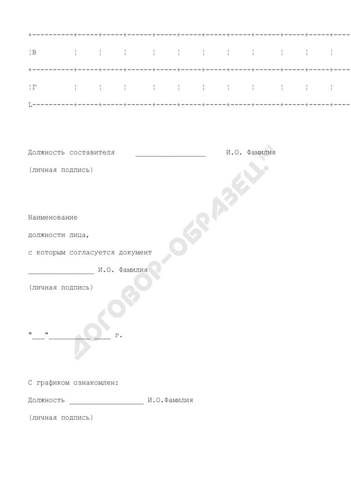 График сменности структурного подразделения организации. Страница 3