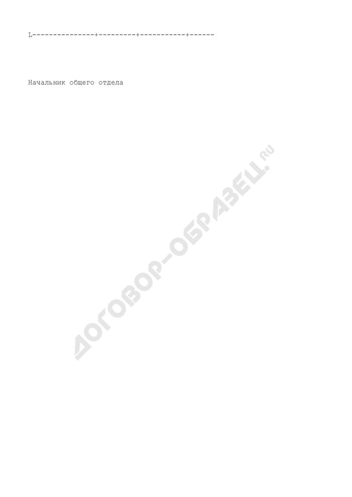 Сводка учета объема документооборота в центральном аппарате Госадмтехнадзора Московской области. Страница 2