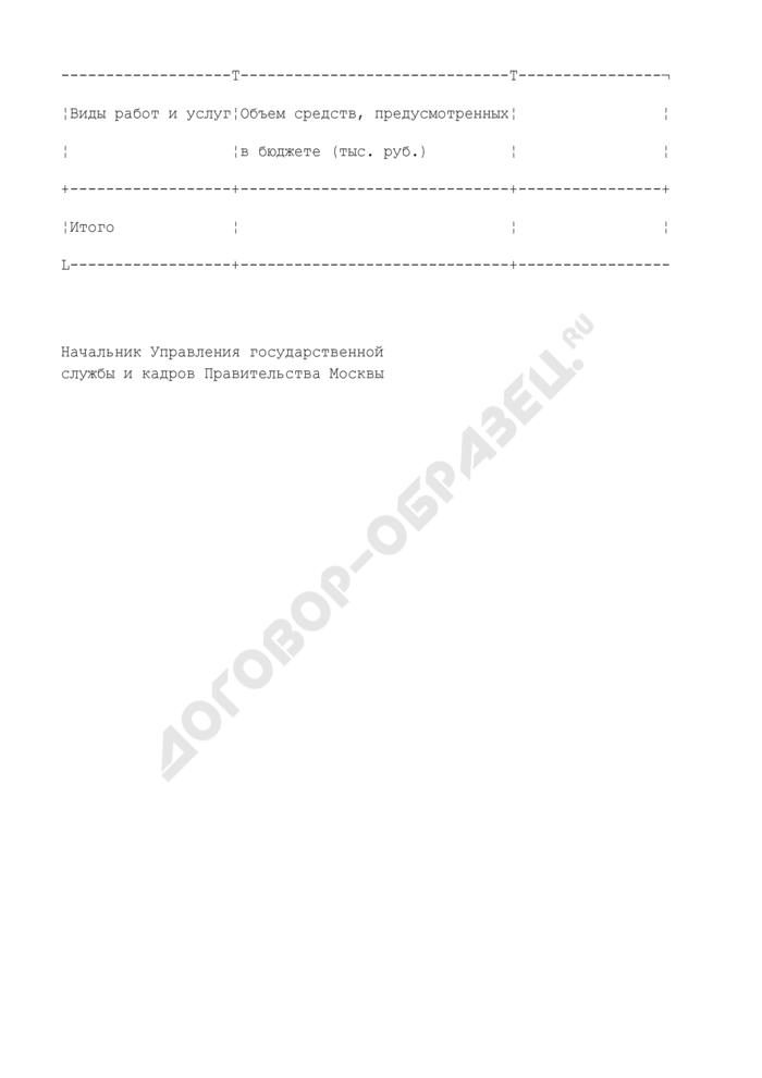 Заказ Правительства Москвы на дополнительное профессиональное образование государственных гражданских служащих города Москвы. Страница 2