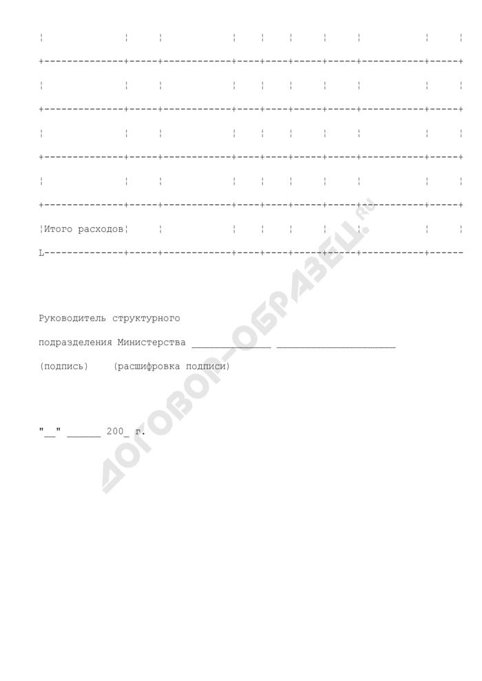 Бюджетная смета структурного подразделения Министерства финансов Российской Федерации. Страница 3