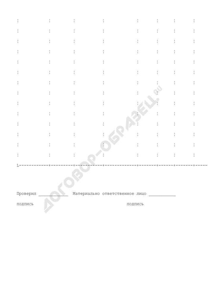 Ведомость остатков продуктов и товаров на складе (в кладовой). Специализированная форма N 20-ОПит. Страница 2