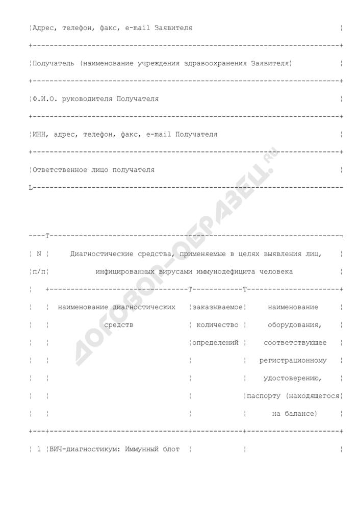Заявка на поставку в 2009 году диагностических средств, применяемых в целях выявления лиц, инфицированных вирусами иммунодефицита человека. Страница 2