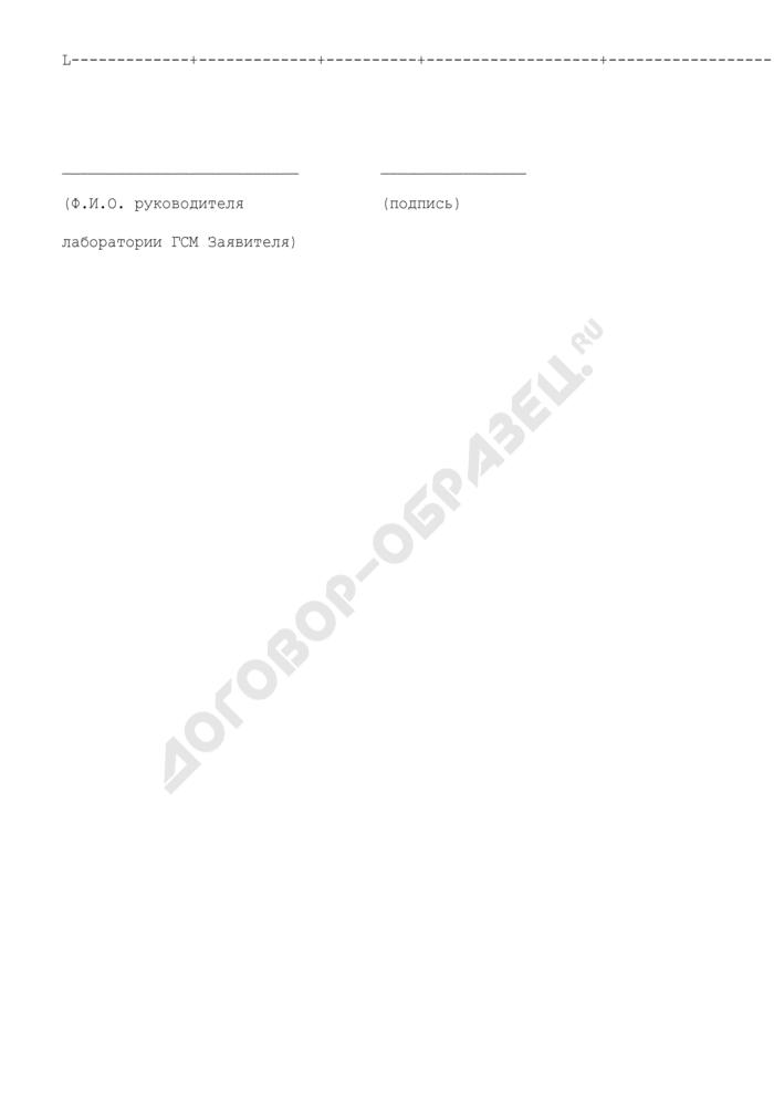 Заключение по сверке воспроизводимости (к заявке на проведение сертификации для организаций, осуществляющих контроль качества авиационных топлив, масел, смазок и специальных жидкостей, заправляемых в воздушные суда). Форма N 3. Страница 2