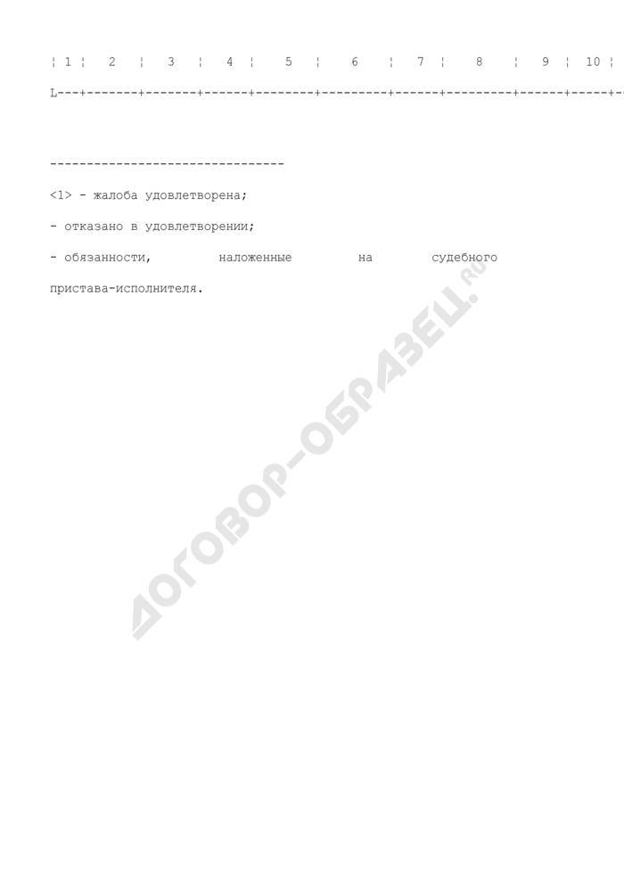 Журнал учета материалов по жалобам на действия судебных приставов-исполнителей. Форма N 16. Страница 2
