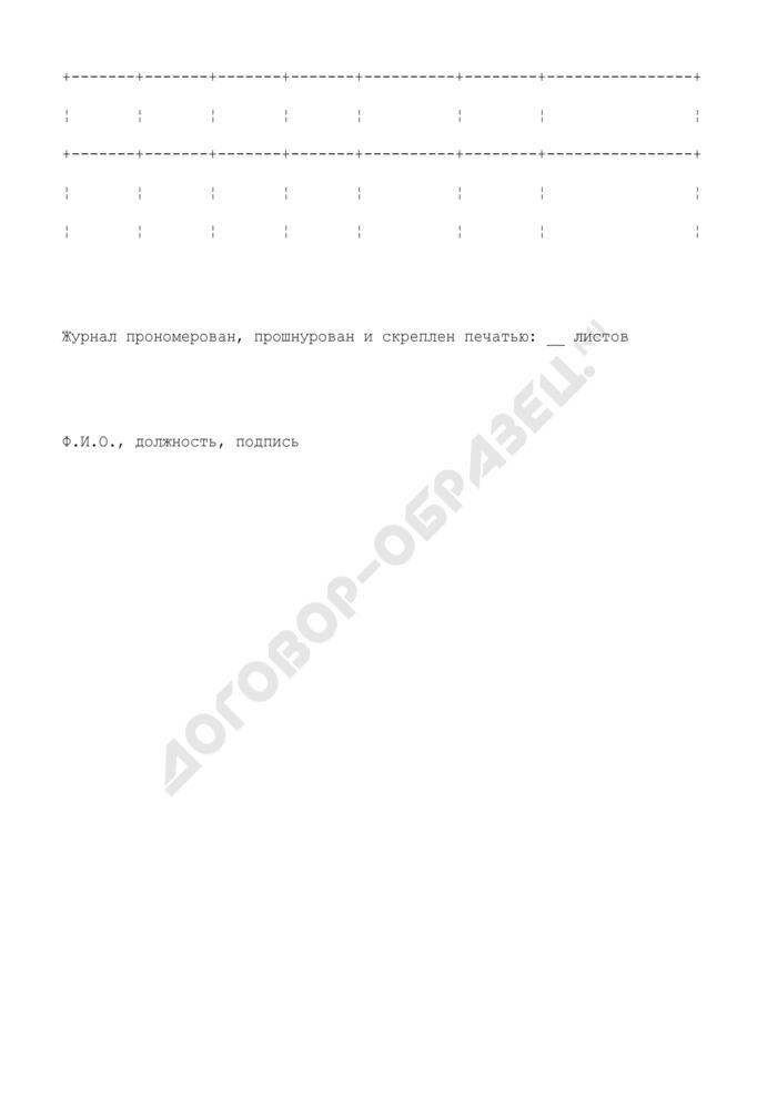 Журнал регистрации нарядов-допусков на производство газоопасных работ. Страница 2